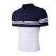 Custom Dry Fit Sublimation Golf Shirts Men'S Striped Polo