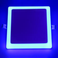 blue green red 6+3w square double color color led panel light frameless lamp with 9w