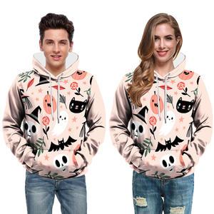2021 hoodie thickened oversized solid color ghost personalized custom logo printed pattern hoodie men and women men's hoodie