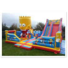 inflatable fun city, amusement cartoon theme children inflatable amusement park inflatable theme park