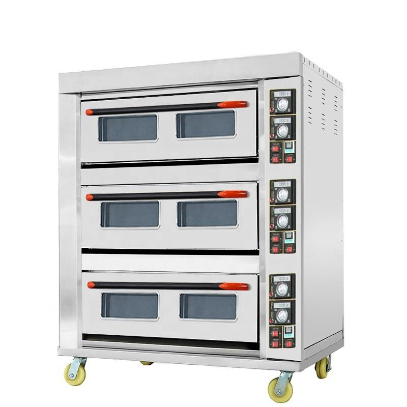 Astar Professional Oven Manufacturer 3 Deck 6 Trays Industrial Electric Cake Bread Bakery Oven