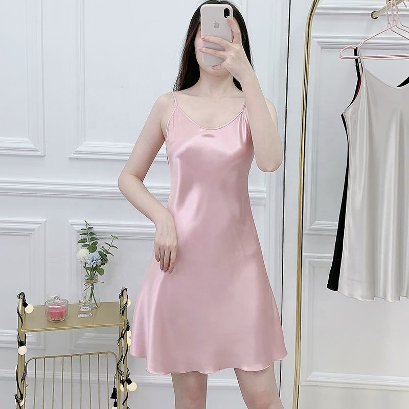 Slip Satin Sexy Women's Sleepwear/Solid Color Night Dresses for Woman/Ladies Sling Nightdress Pajamas Sex