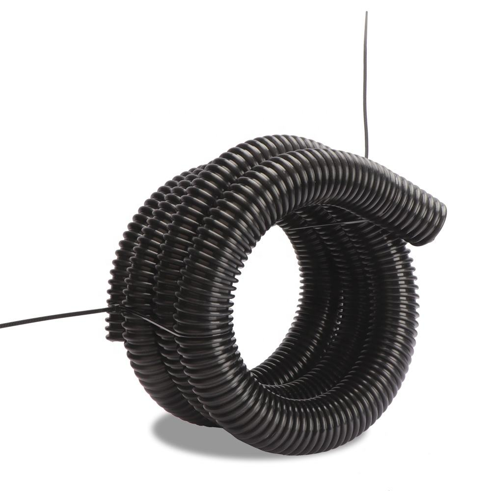 Lawn and Leaf Vacuum Hose 8in dia x 5ft Clear Urethane Yard Vacuum Hose