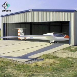 Construction design portable prefabricated steel structure aircraft hangar