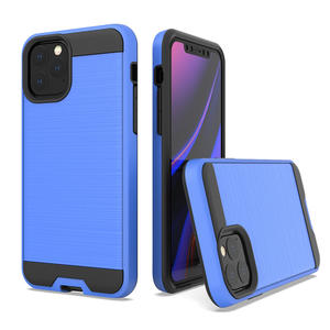 Brushed tpu pc combo phone case for new iphone 11 5.8inch with anti-slip grains