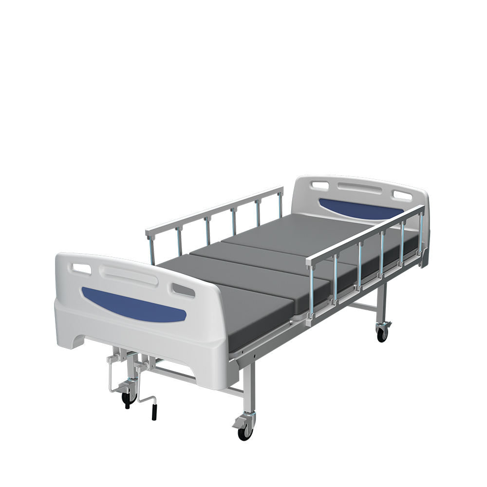 Coinfycare JFM02 CE/ISO13485/FDA factory direct 2 functions crank manual hospital bed in white color