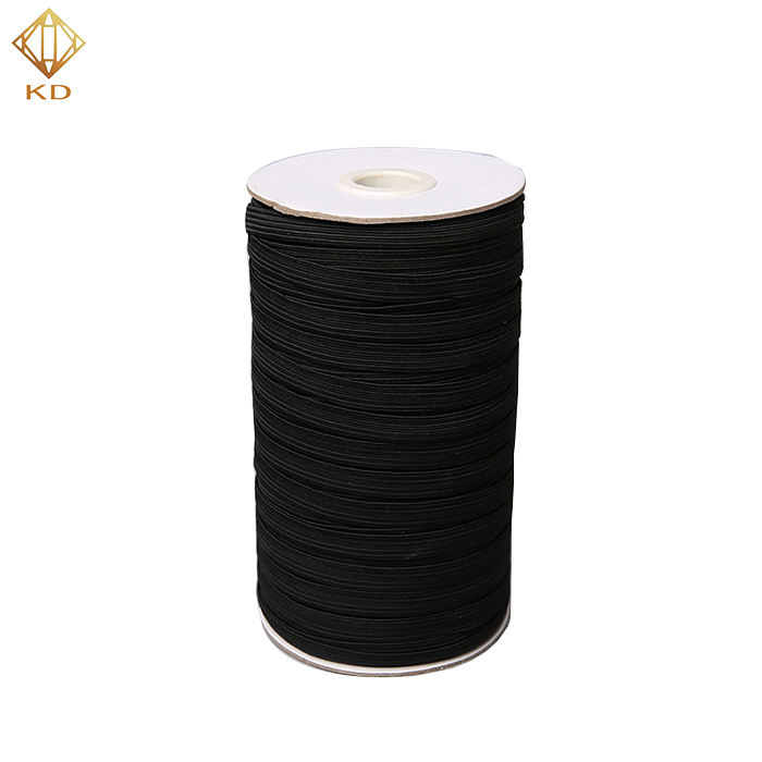 Manufacture 3/6/8/10/12/15/20/25/30/40mm White Black Spandex Polyester Flat Elastic Tape For luggage sweatpants