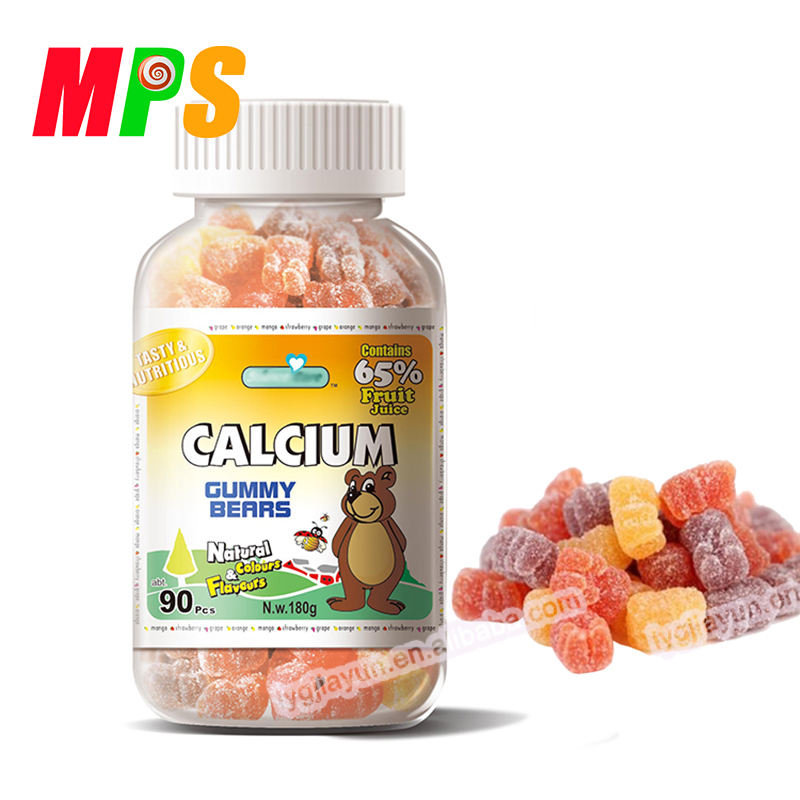 180g Factory Supply Halal Certified Gummies Gelatin Calcium Gummy Bear