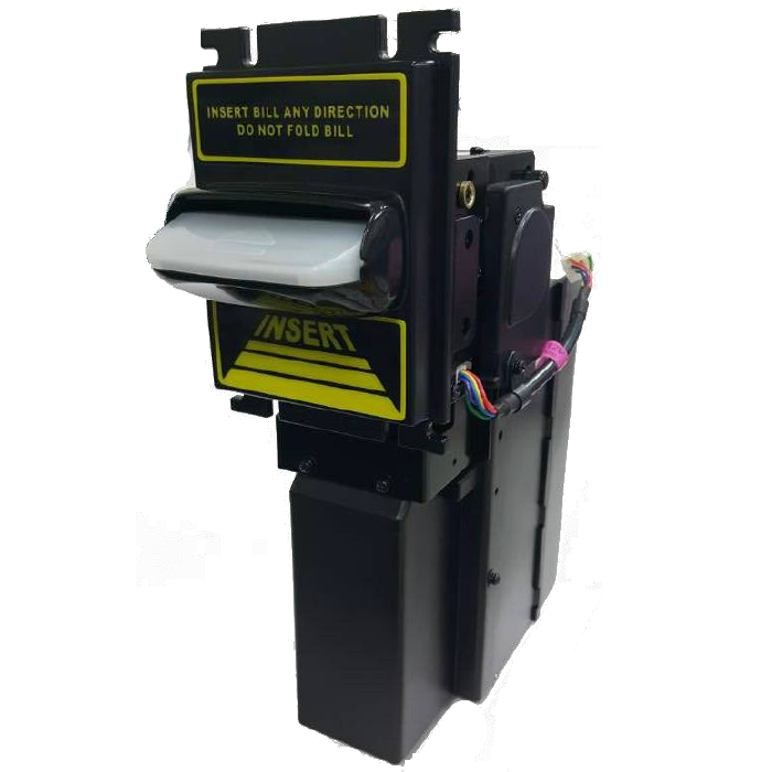 Hot tp70 P5 Bill Acceptor with stacker accept upJAMAICA note bill for pot of glod machine roulette machine