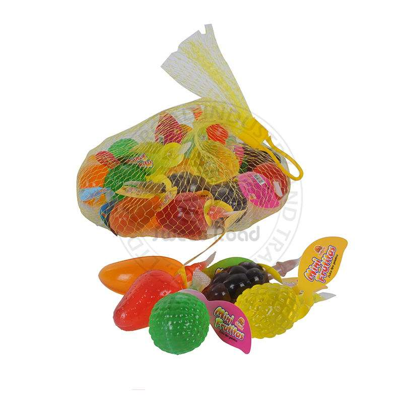 Halal Assorted Fruit Jelly Candy Fruit Shape Jelly