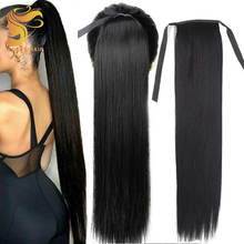 Aosun Best Straight\ Kinky Ponytail For Black Women, Remy Human Hair Ponytails, Drawstring Ponytail Human Hair Extension