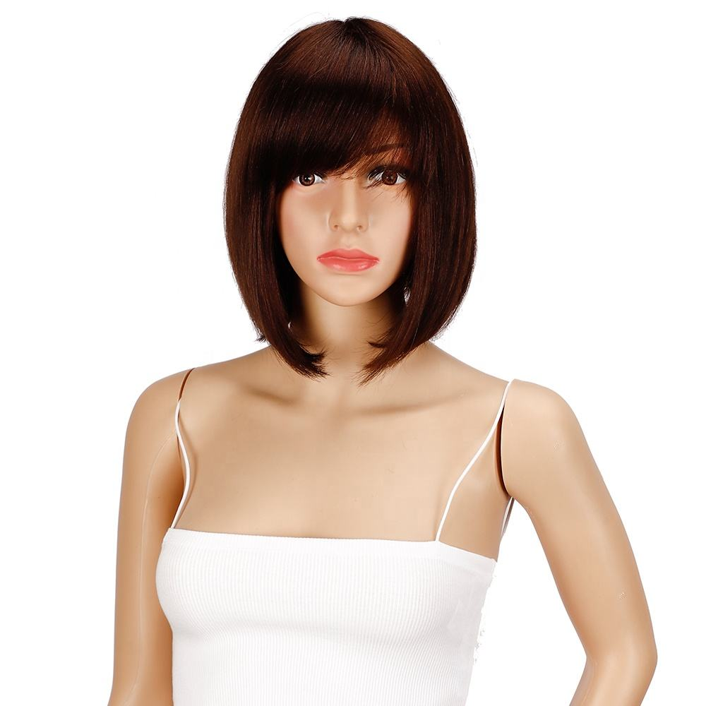 Noble Cuticle Aligned Hair Natural Cheap Colored 10inch Wholesale Virgin Brazilian Short Bob Human Hair Wigs