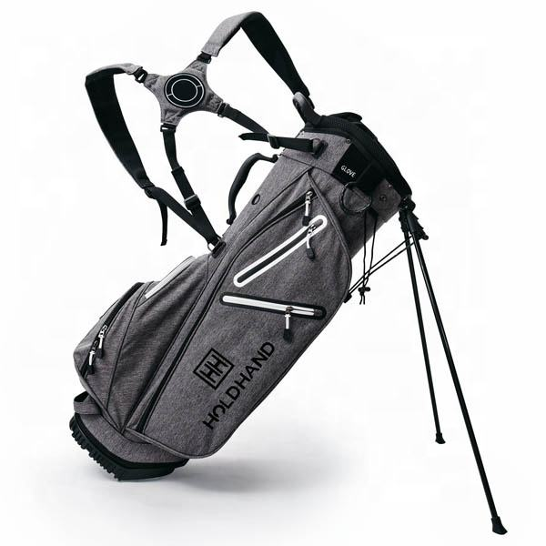 New design portable customized snow canvas golf stand bag with legs