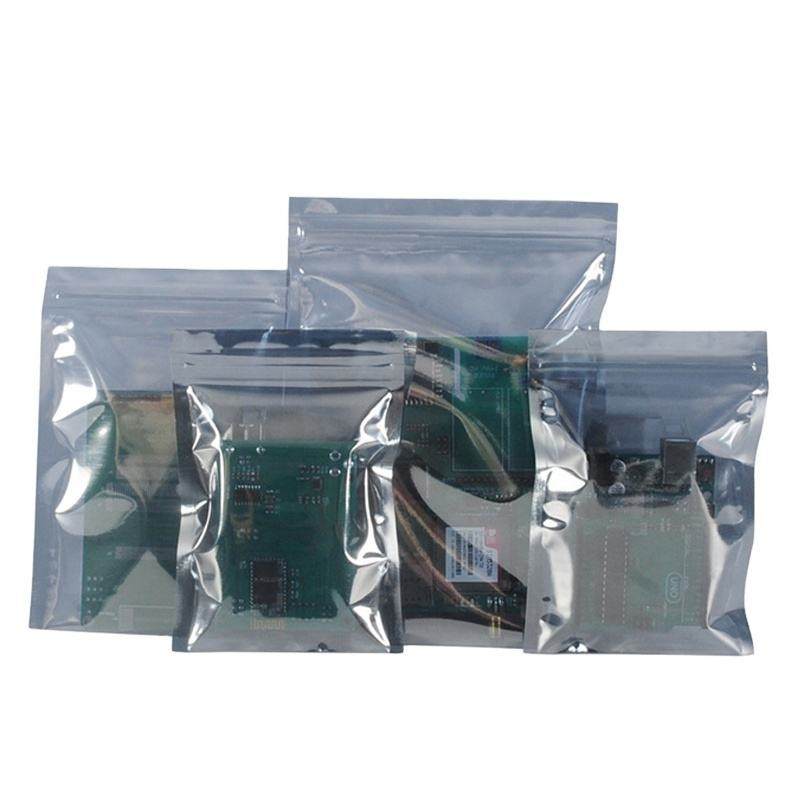 Anti Static EMI ESD Shielding Film Packaging材料Custom Smell Proof Zip Lock Aluminium Foil Bag
