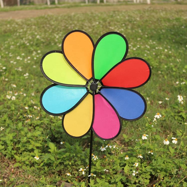 Factory Price High Quality Flower Pinwheel Windmill Toys For Kids