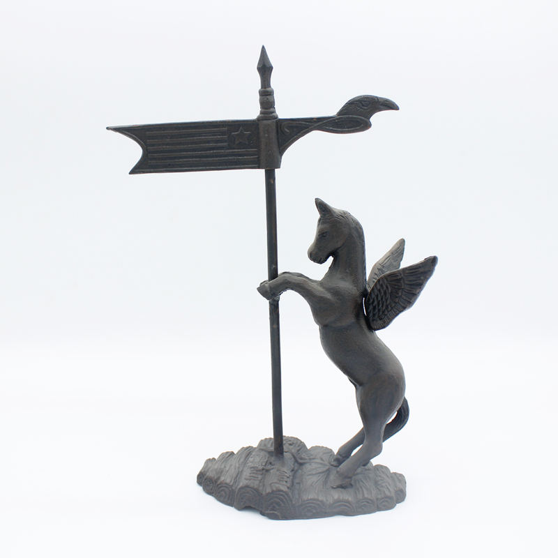 Factory wholesale high quality cast iron metal weather vane wind vane for garden decoration cheap