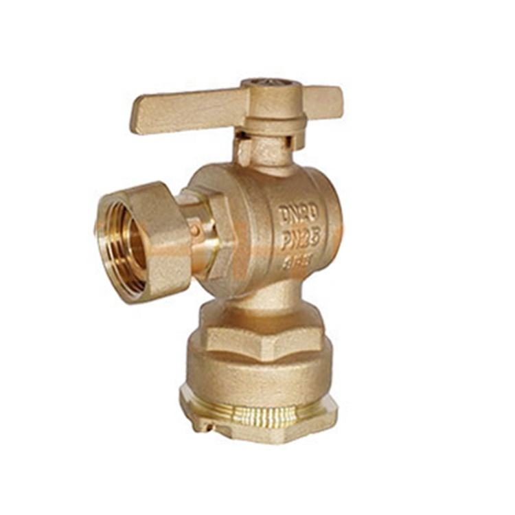 Wholesale factory price brass water meter valve with brass handle from Yuhuan Taizhou