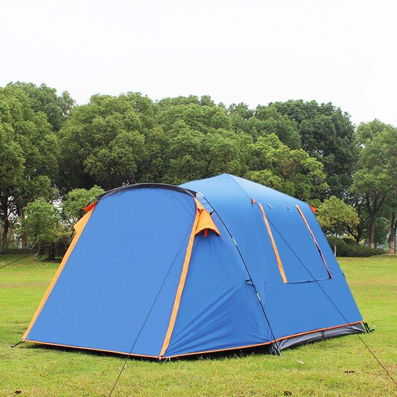 Outdoor Camping Travel Tents Folding Portable Waterproof 3 Person Fiberglass Pole 4 Man Tent