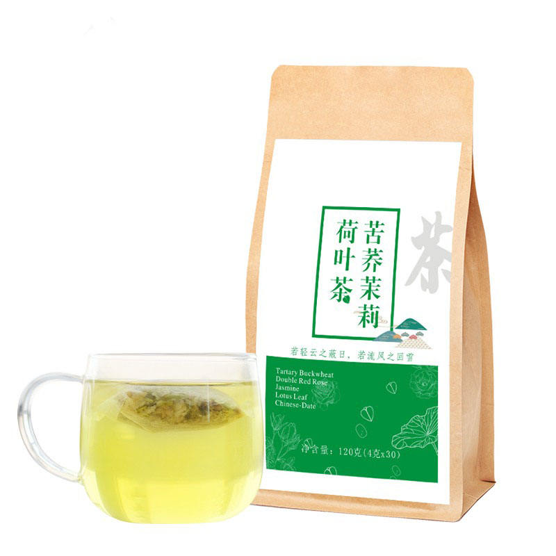 Lotus jasmine buckwheat fat burning herbal tea with detox & beauty function