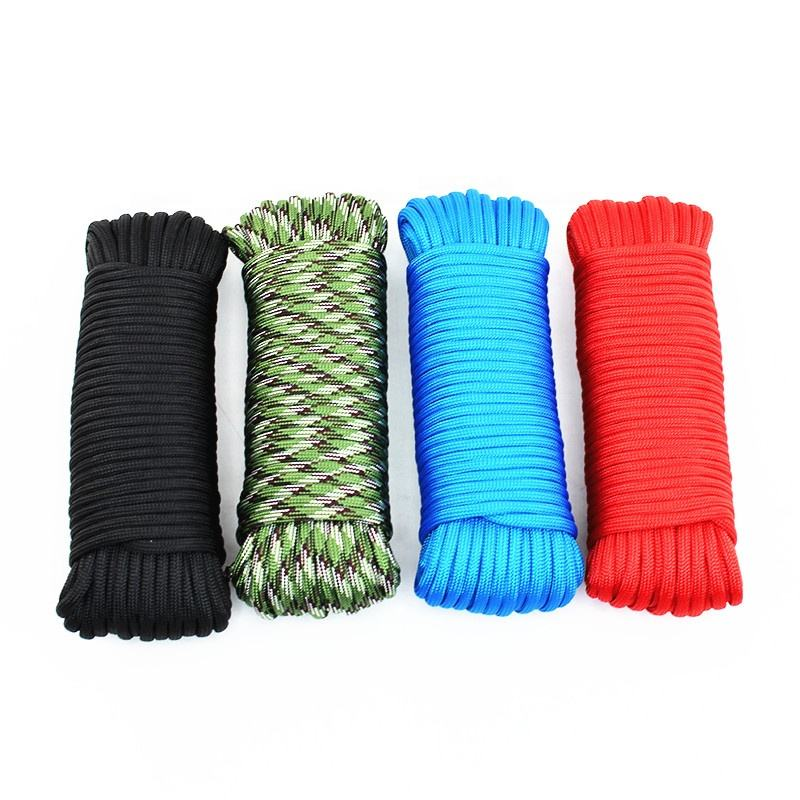 550lb Paracord Cord/Parachute Cord Type 7 or 9 Strand 100% Nylon Core and Shell - Multiple Colors