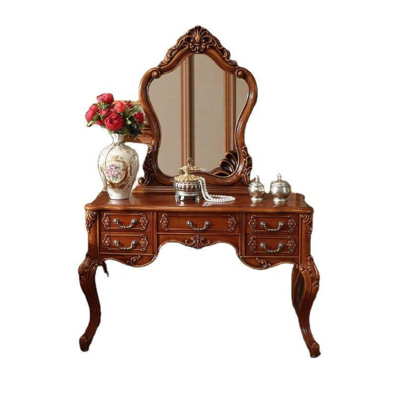American Style wood bedroom furniture Makeup Table Stool