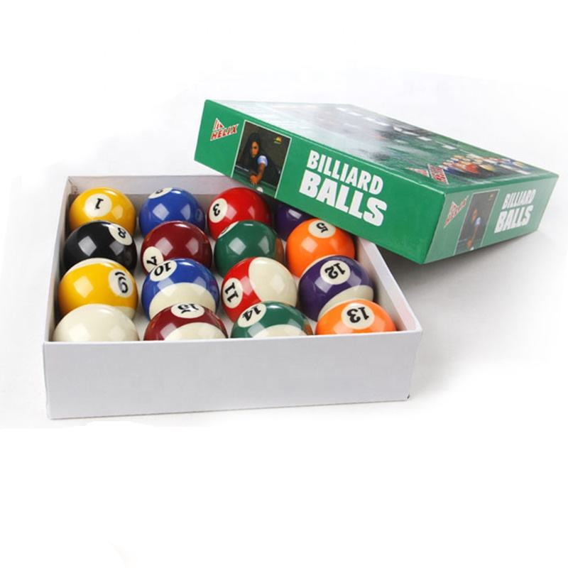 Promotional price Beauty box American Pool ball 57.2mm Pool table ball set 2-1/4inch 16x set
