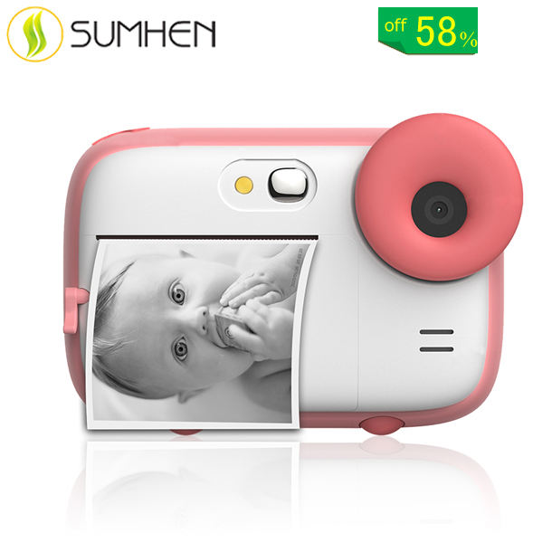 Children's Print Camera Dual Lens 1080P Digital Photo Camera for Kids Instant Thermal Printer Camera for kids