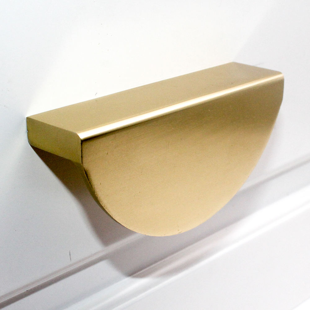 New Nodic Style Half Moon Round Aluminum Drawer Pulls Curcle Cabinet Handles Gold Other Furniture Hardware For Bathroom