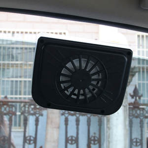 Custom High Speed Auto Cool Window Small LED Air Cooler Solar Car Fan For Car