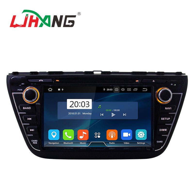 <span class=keywords><strong>Manufactory</strong></span> chinês Android 9.0 sistema 4 + 64G S-CROSS 8 polegadas touch screen carro estéreo de rádio para SUZUKI 2013-2015
