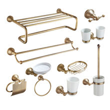Taizhou Lunxury brass bathroom accessories sets made in china for bathroom