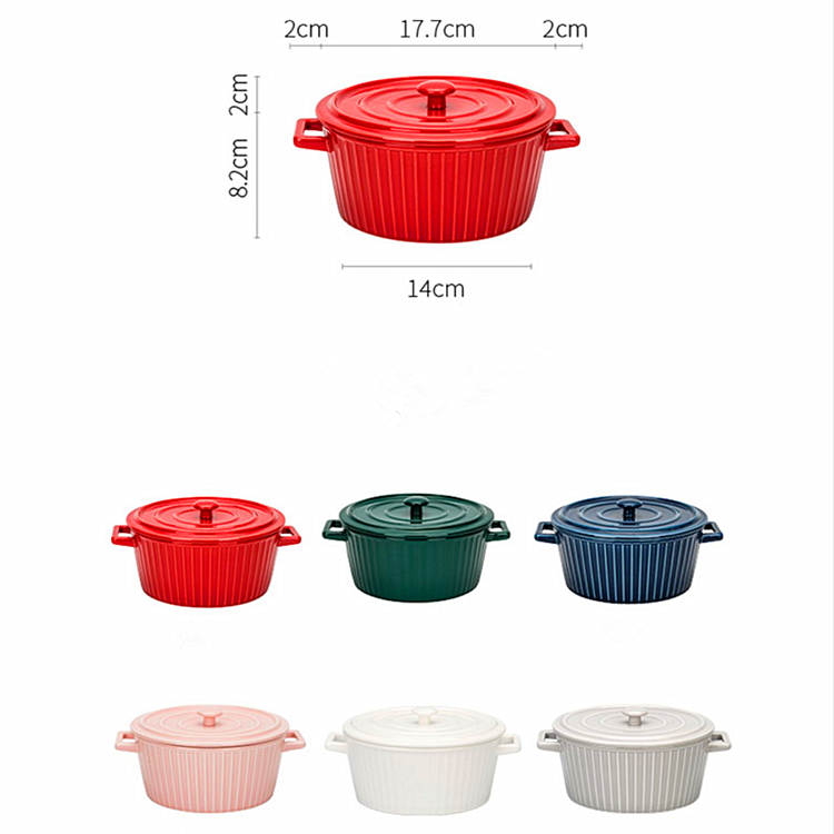 New design cookware microwave safe soup cooking pot mini casserole dish ceramic cooking pot casserole with lid