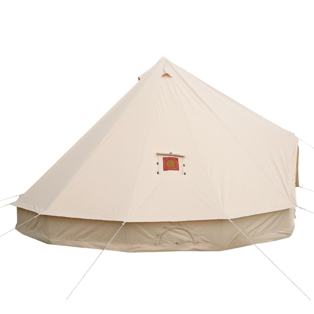 Luxury glamping waterproof 100% cotton 5m canvas bell tent with stove jack