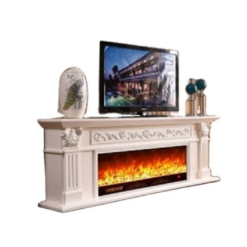 Hand Carved Electric Fireplace with tv stand