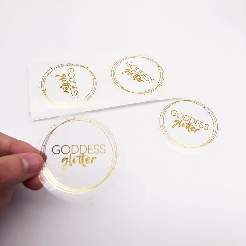 Adhesive Round Paper Logo Label Sticker