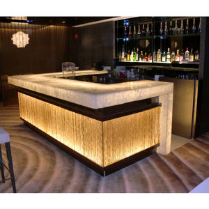 Modern Portable Artificial Stone Led Furniture Nightclub Restaurant Wine Bar Counter Front Table