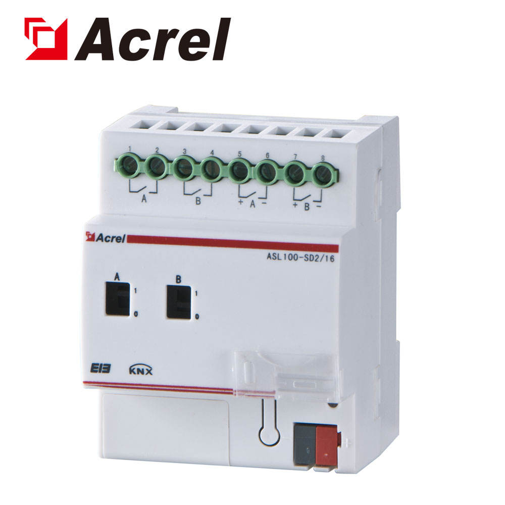 Bridges and tunnels 2 dimming circuits control 0-10V dimming module ASL100-SD2/16 Acrel 300286.SZ