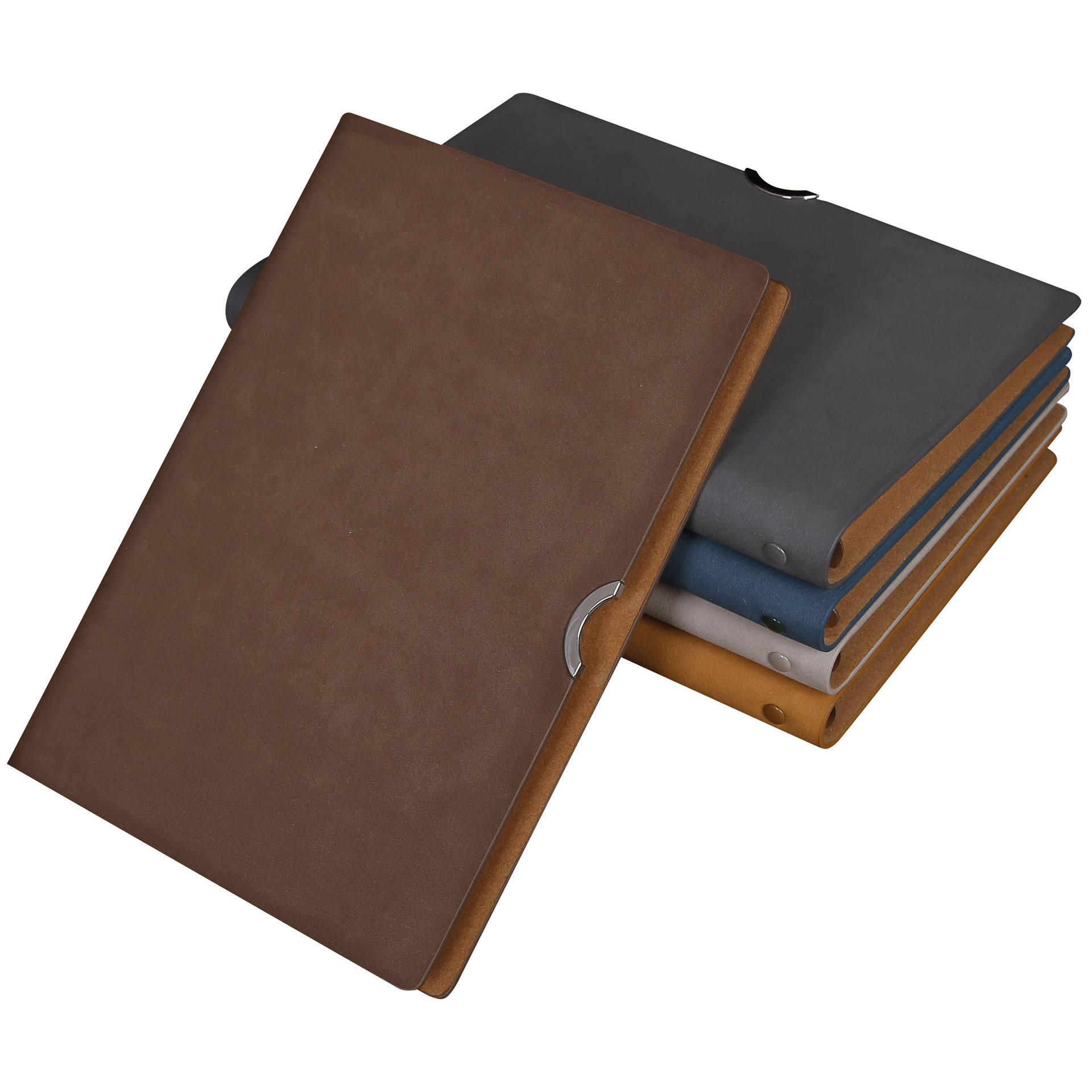 A5 Binder Journal Refillable 6 Round Ring Notebook Leather Loose Leaf Binder Spiral Diary Notebook