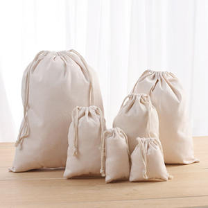 High Quality eco-friendly gift string bag small cotton drawstring bag