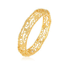 xuping wholesale simple different designs mujer dorado pulsera, 24k saudi gold jewelry bangle