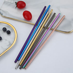 Wholesale reusable cup straws straight and curved stainless steel drinking straw
