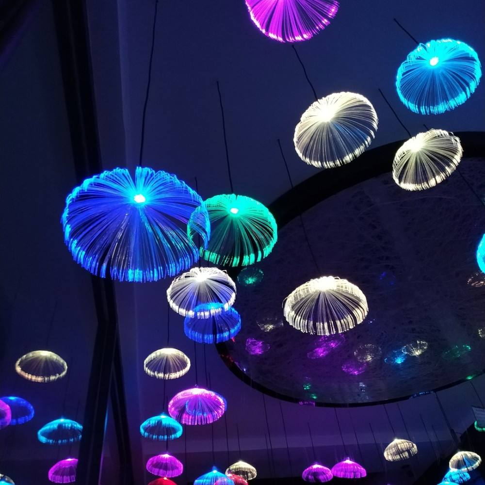 Yeenoo 2019 NEW PRODUCT jellyfish led light for holiday decoration fiber optic lamps