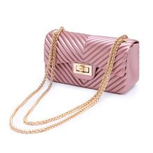 2019 New Small Jelly Chain Handbags Ladies PVC Shoulder Messenger Bag For Wholesale