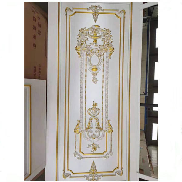 Polyurethane 3D Carving Flower PU Relief Wall Panel