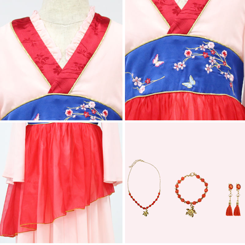 Costume Kids Halloween Kids Dress Up Costume Role Play Halloween And Festival Party Mulan Dress With Accessories For Girls