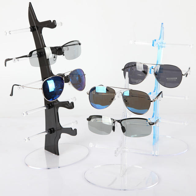 Acrylic 5 Pairs Sunglasses Display Rack Shelf Eyeglasses Showing Stand Counter Display Stand Holder Sunglasses Display