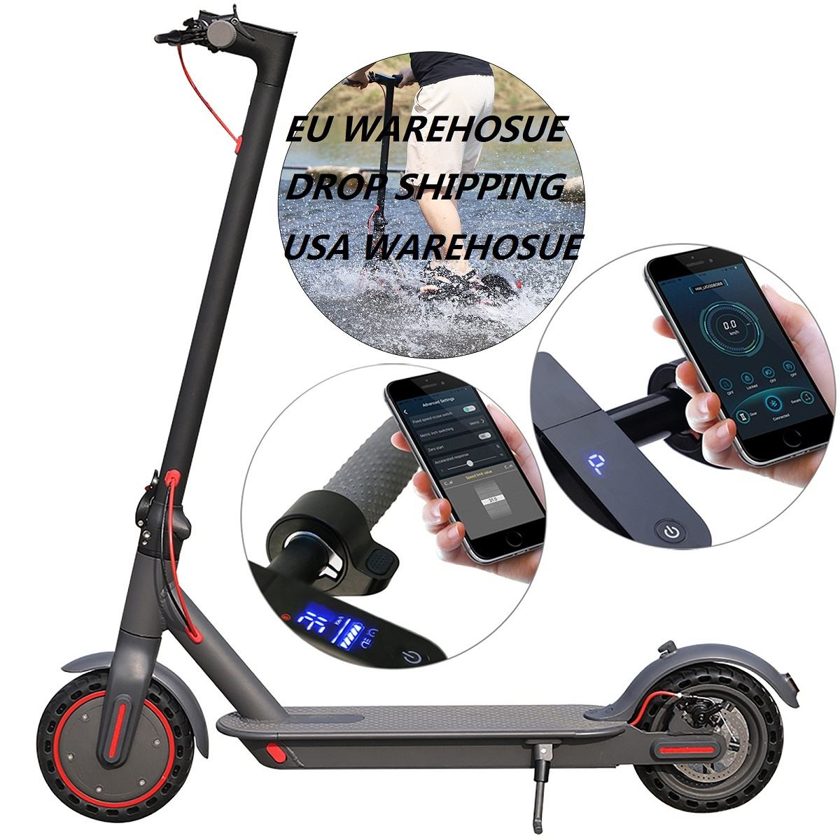 AOVOPRO Europe Warehouse Stock Drop Shipping Foldable Adult electric balance scooter Smart 31KM/H 35KM Range Electric Scooter