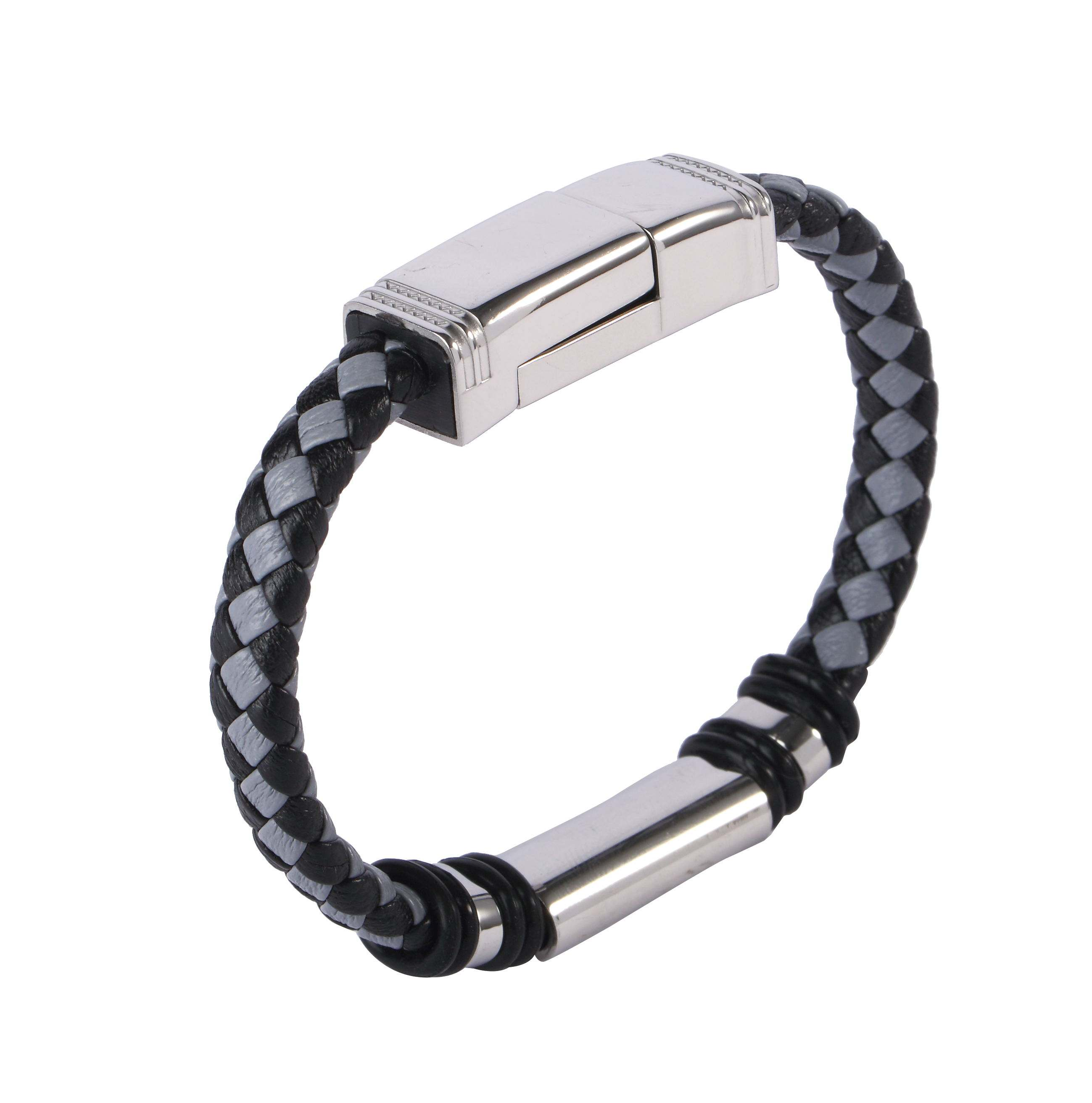 Unique Bracelet Trendy Jewelry USB Charger Data Phone Cable New Stainless Steel Bracelet For Men