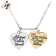 Promotion metal custom gold plated jewelry heart charm and pendant