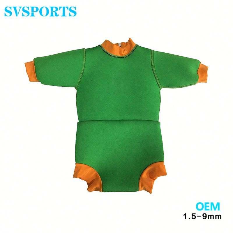 Benutzerdefinierte baby Wärmer Neopren Voller Baby Wickeln Wassersport Neoprenanzug für Kinder Im Alter Von 1-2yrs alt